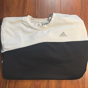 ADIDAS ATHLETIC 3/4 BLACK & 1/4 WHITE SWEATSHIRT